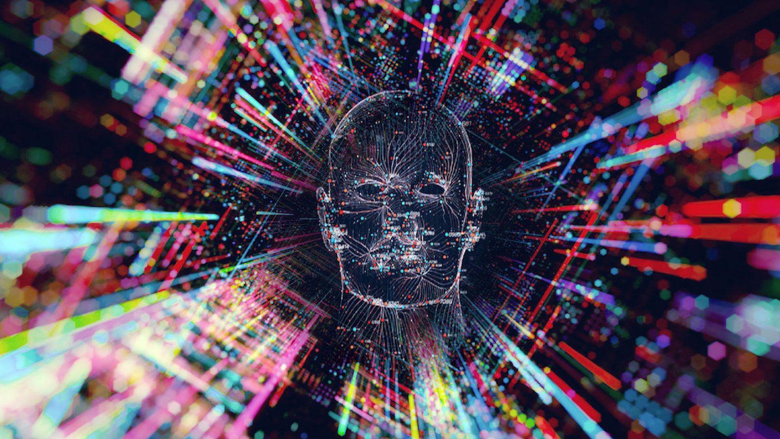 digital person's face