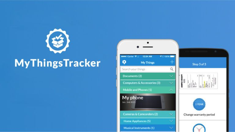 Phones showing the user interface of a tracker app