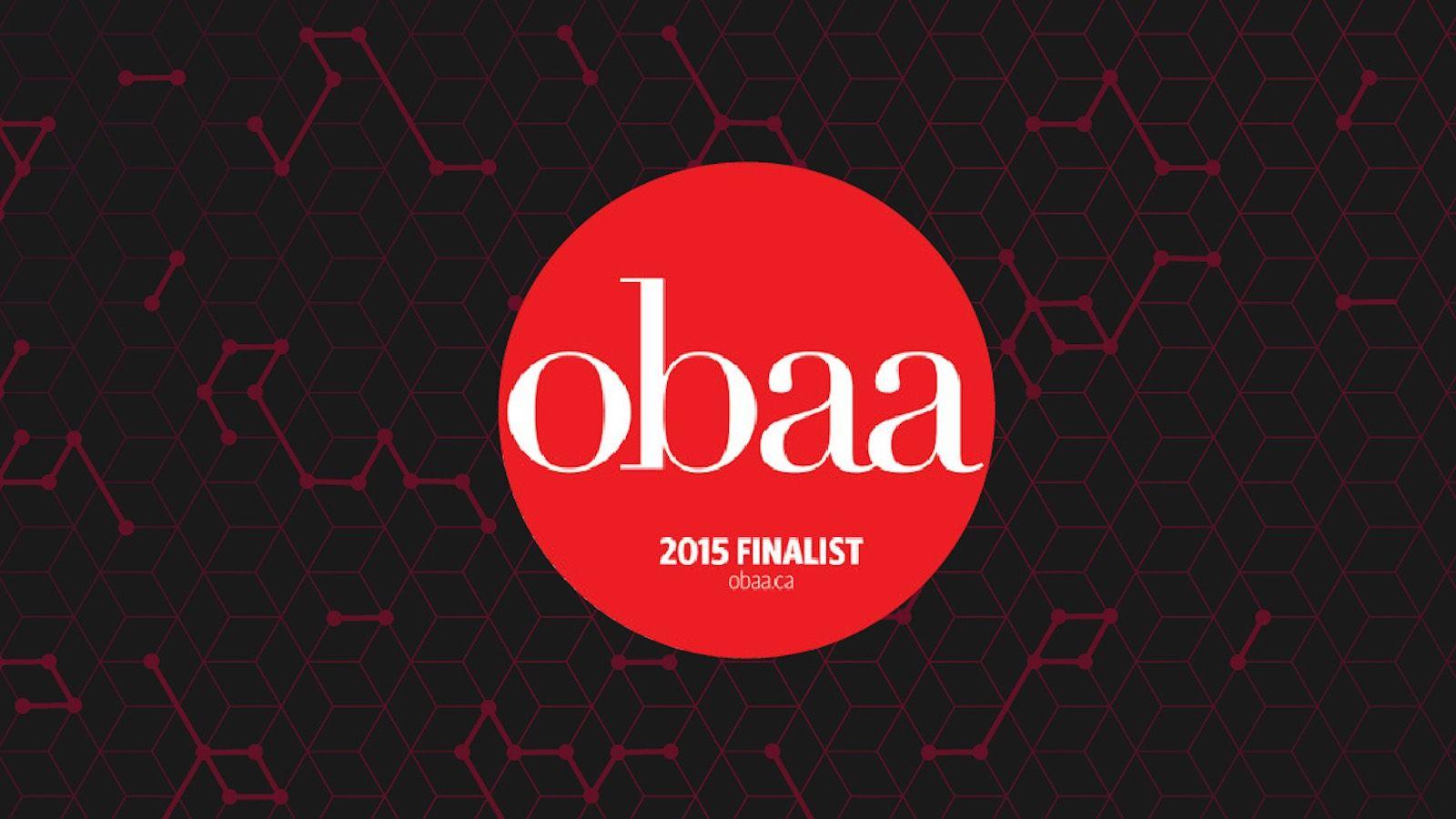 obaa 2015 finalist logo on black background