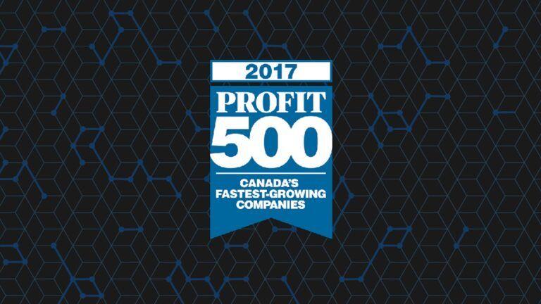 2017 Profit 500 Canada's Fastest-Growing Companies award logo