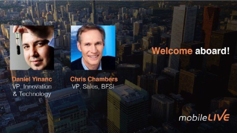 Two new VPs being welcomed to mobileLIVE