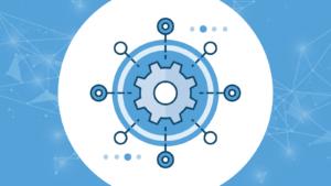 An automation gear with a technology overlay