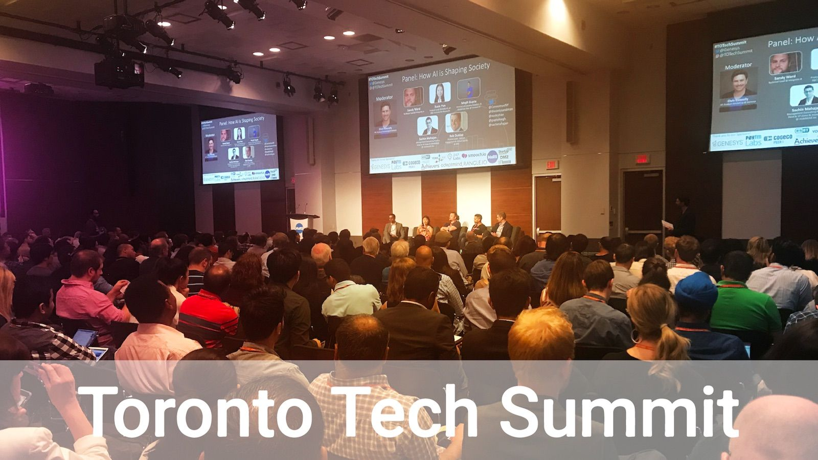 tech summit attended by many people