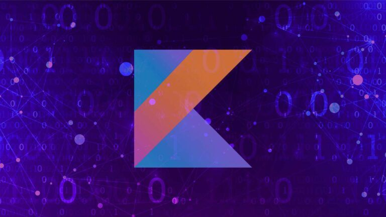 An illustrative banner with the Kotlin Logo