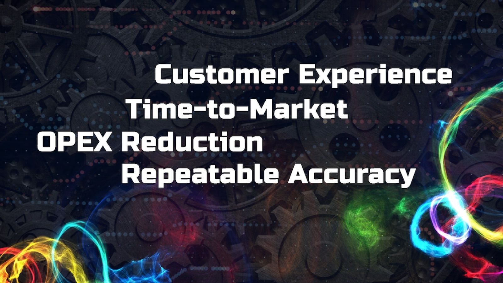Test Automation: customer experience, time-to-market, OPEX reduction, Repeatable Accuracy