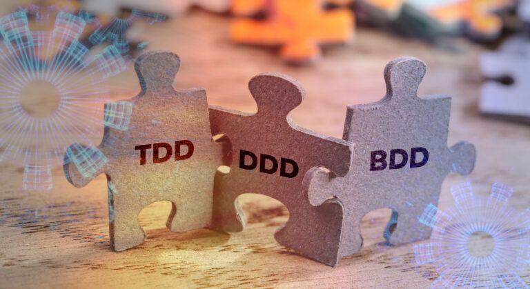 TDD, DDD, BDD, puzzle pieces, fitting together
