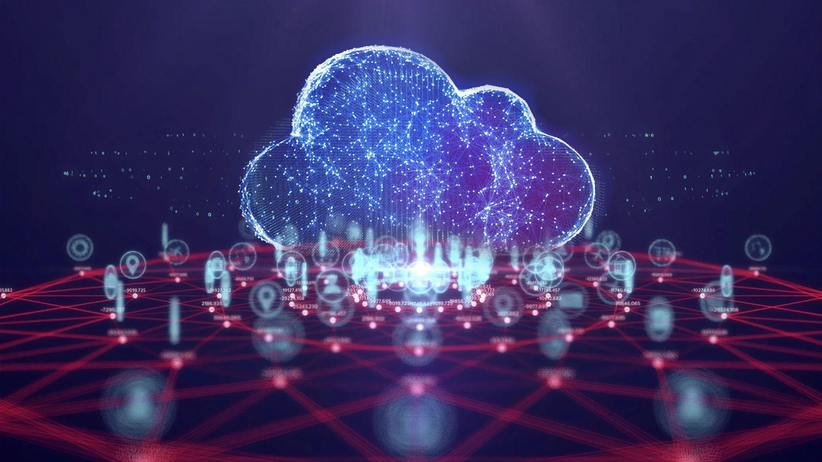 An illustration of cloud technology
