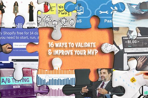 Puzzle pieces surrounding the title 16 Ways to Validate And Improve Your MVP