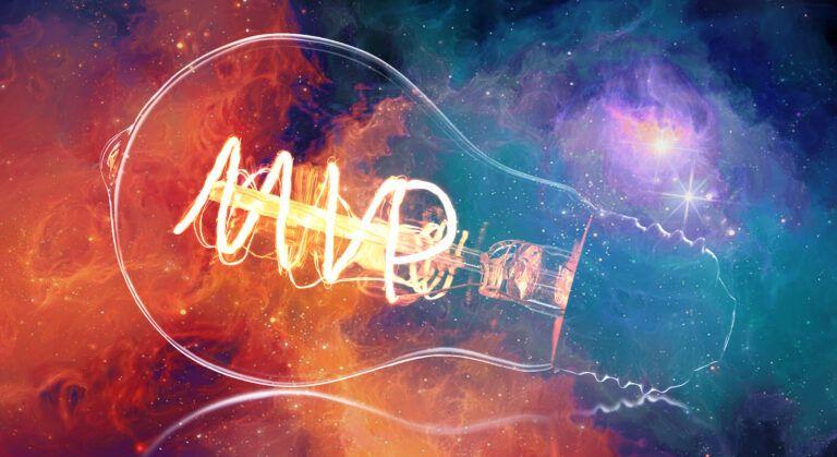 light bulb in galaxy