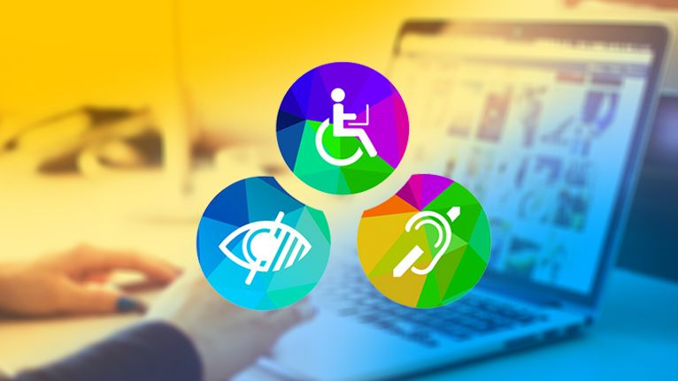 Illustration of various accessibility icons