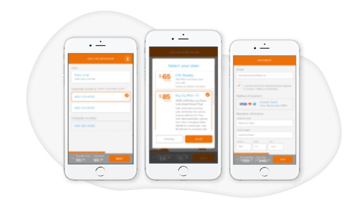 Canadian telco digital app experience