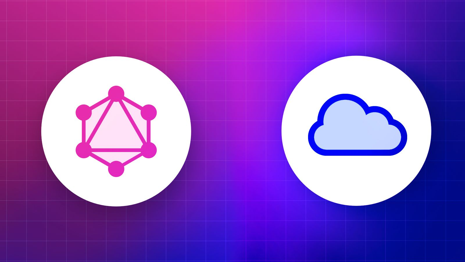 An illustration with the GraphQL and REST icons